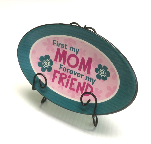 Mom Forever  Plaque Plate - Mom Gifts - Holiday Gifts Mart