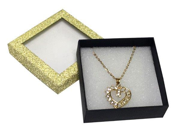 Mom Heart Necklace in Gold Box - Mom Gifts - Holiday Gifts Mart
