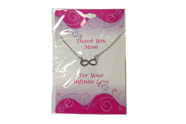 Infinity Necklace on Mom Card - Mom Gifts - Holiday Gifts Mart