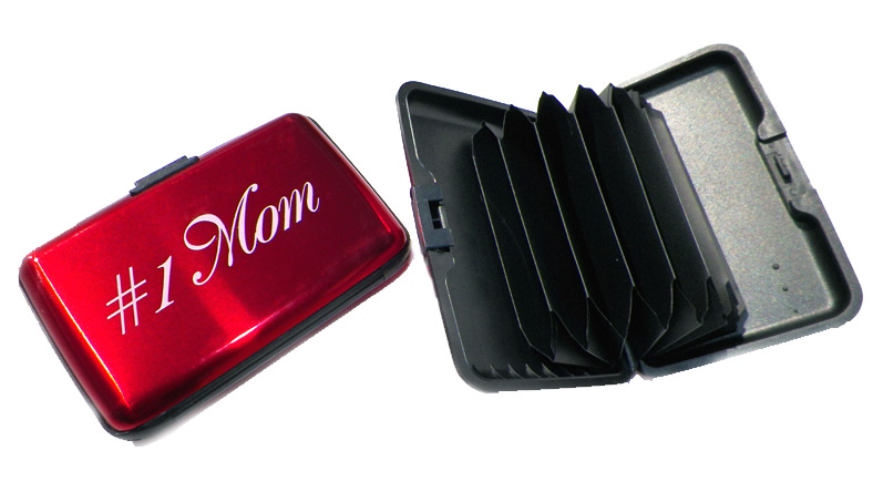 #1 Mom Scan Safe Credit Card Case - Mom Gifts - Holiday Gifts Mart