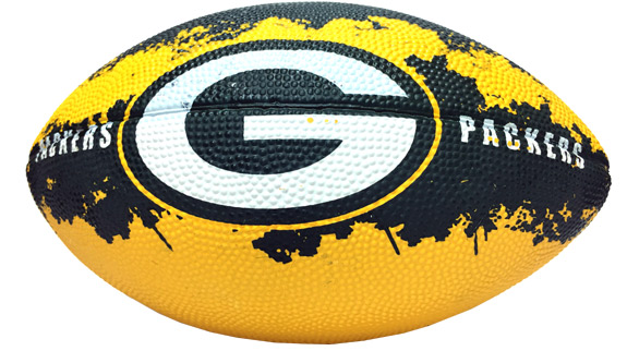 Green Bay Packers - 7 In. NFL Action Football - Sports Team Logo Gifts - Holiday Gifts Mart