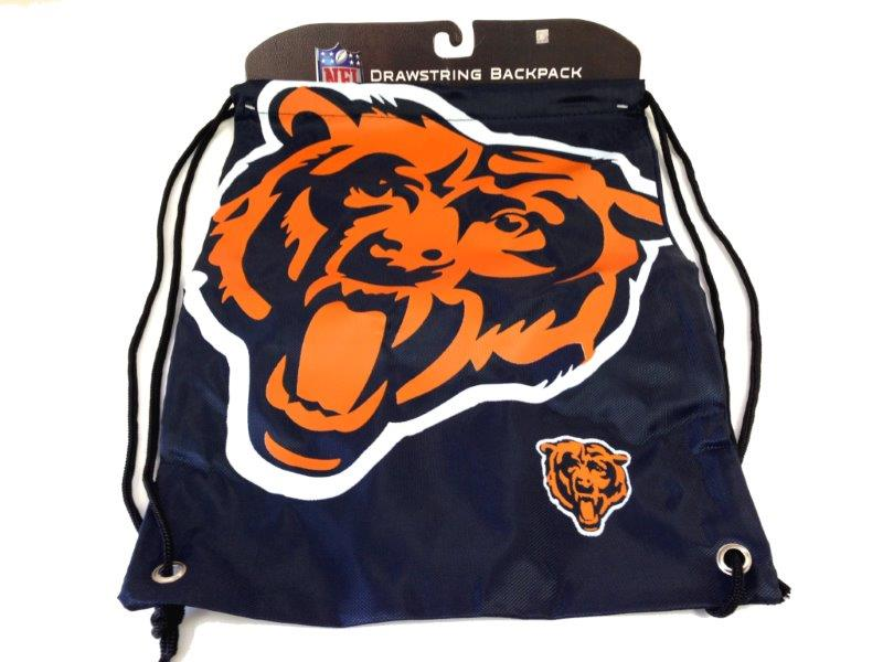 NFL Drawstring Backpack - Bears - Sports Team Logo Gifts - Holiday Gifts Mart