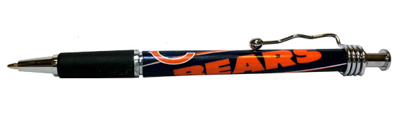 Chicago Bears NFL Rubber Grip Pen - Sports Team Logo Gifts - Holiday Gifts Mart
