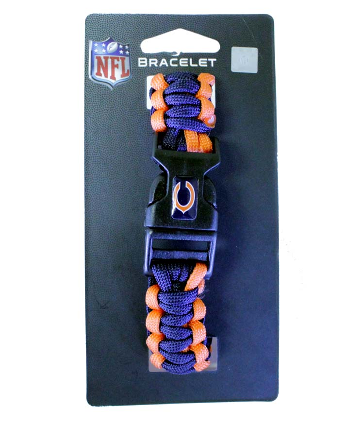 Chicago Bears NFL Survivor Bracelet - Sports Team Logo Gifts - Holiday Gifts Mart