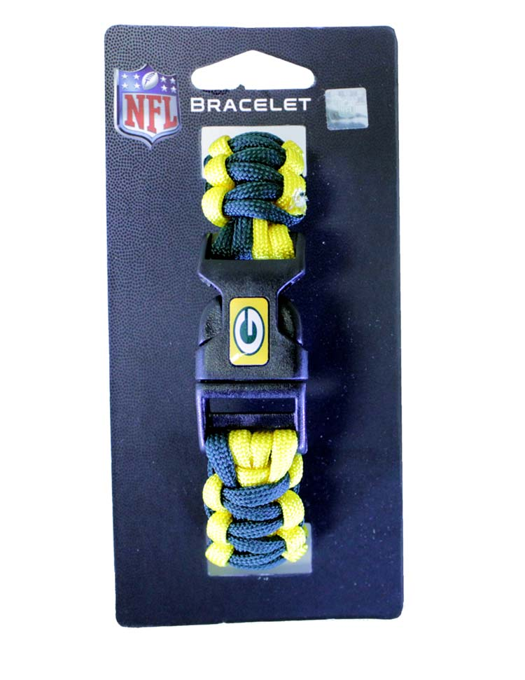 Packers NFL Survivor Bracelet - Sports Team Logo Gifts - Holiday Gifts Mart
