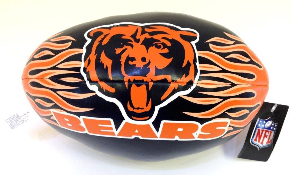 9 In. NFL Vinyl Football - Bears - Sports Team Logo Gifts - Holiday Gifts Mart