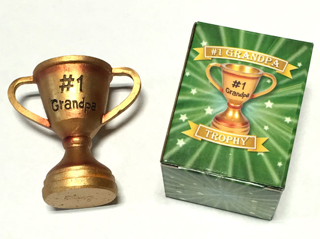 #1 Grandpa Champ Trophy - Grandpa Gifts - Holiday Gifts Mart
