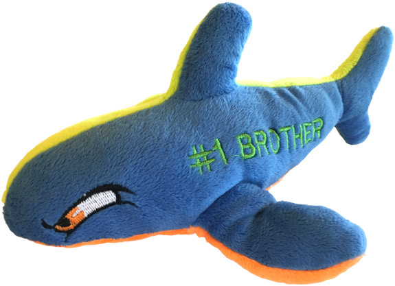 Number 1 Brother Plush Shark - Brother Gifts - Holiday Gifts Mart