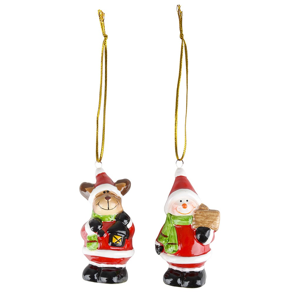 Reindeer/Snowman Ornament Asst. - Christmas - Holiday Gifts - Holiday Gifts Mart