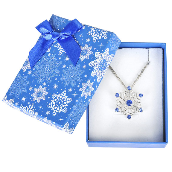 Snowflake Necklace in Snowflake Gift Box - Jewelry Gifts - Holiday Gifts Mart