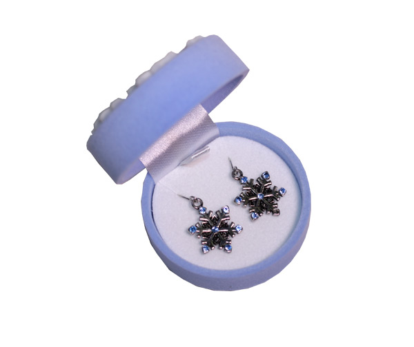 Snowflake Earrings In Snowflake Box - Jewelry Gifts - Holiday Gifts Mart