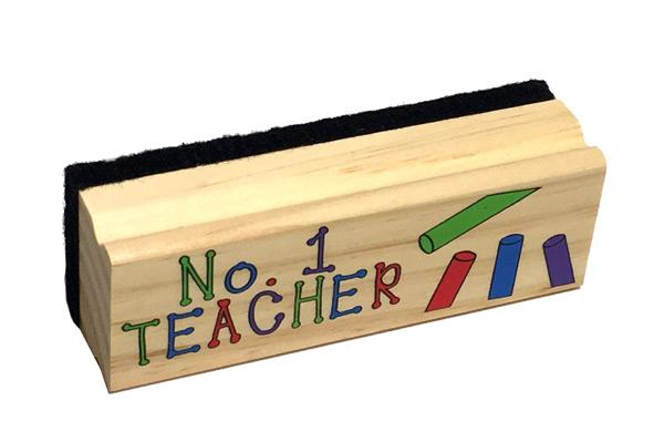 #1 Teacher Chalkboard Dry Eraser - Teacher Gifts - Holiday Gifts Mart