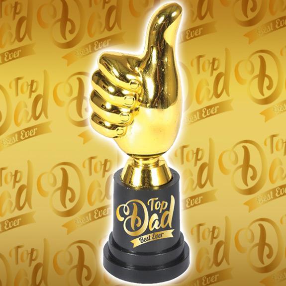 Top Dad Thumbs-Up Trophy