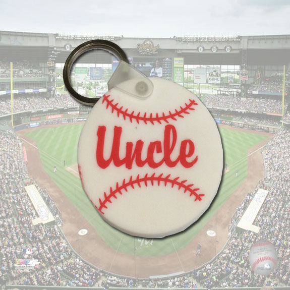 Uncle Baseball Keychain - Uncle Gifts - Holiday Gifts Mart