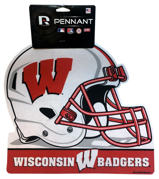 Wisconsin Badgers Helmet Pennant - Sports Team Logo Gifts - Holiday Gifts Mart