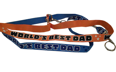 World's Best Dad Lanyard - Dad Gifts - Holiday Gifts Mart