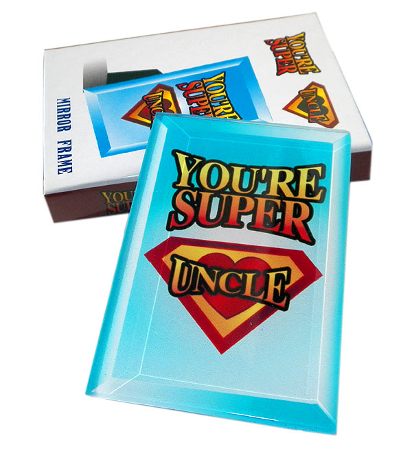 Youre Super Uncle Mirror Frame - Uncle Gifts - Holiday Gifts Mart