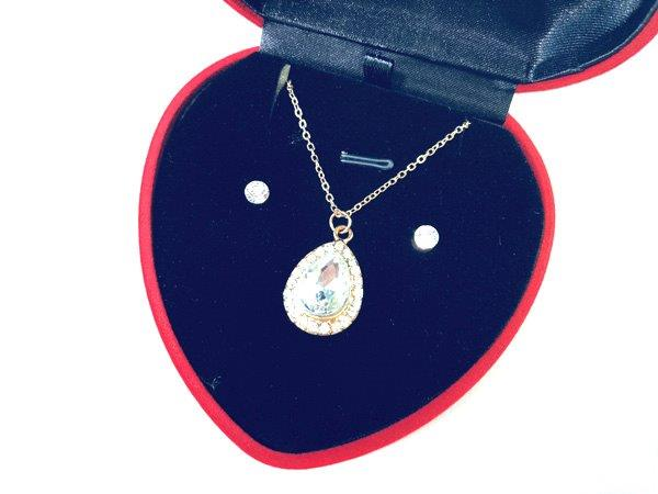 Jewel Necklace and Earring Set - Jewelry Gifts - Holiday Gifts Mart