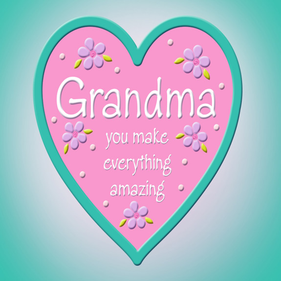 Grandma Heart Magnet