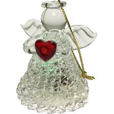 Glass Light Up Angel Ornament - Christmas Tree