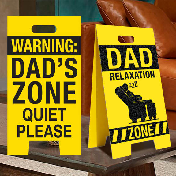 Dad Relaxation Zone Sign - Dad Gifts - Holiday Gifts Mart