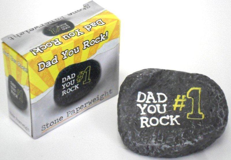 Dad Rocks Paper Weight