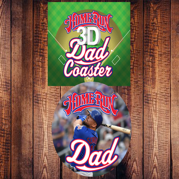 Home Run Dad 3D Coaster - Dad Gifts - Holiday Gifts Mart