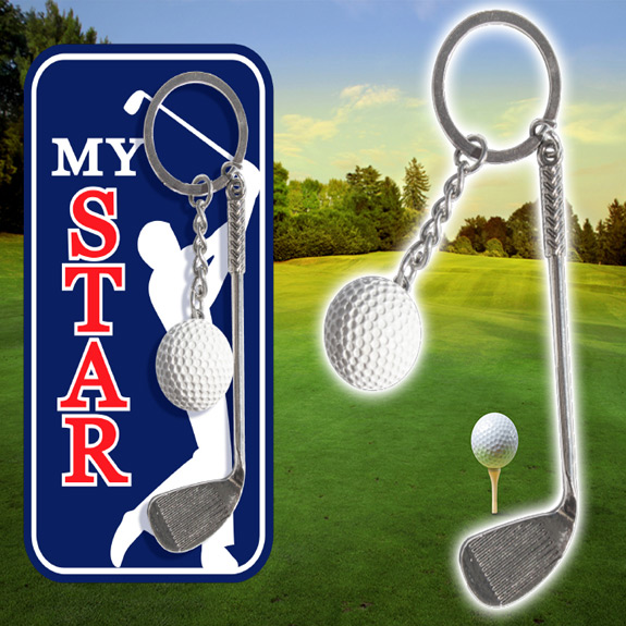My Star Golf Key Chain - Gifts For Men - Holiday Gifts Mart