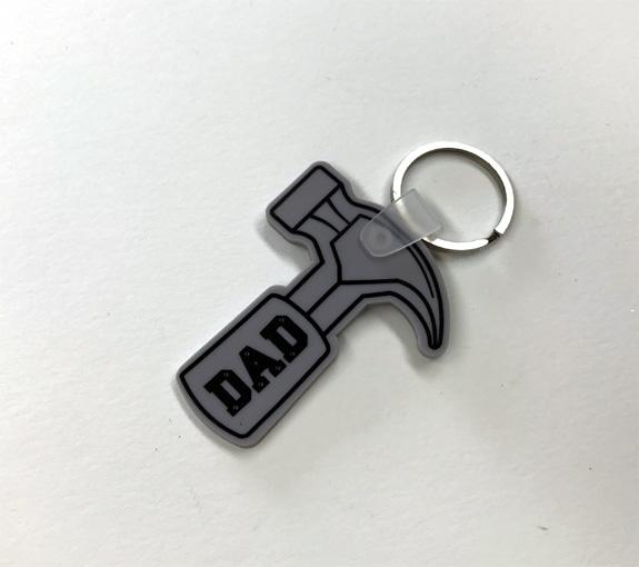 Dad Flexible Hammer Key Chain