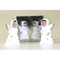 Porcelain Angel Bells Set of 2 - Christian Gifts - Holiday Gifts Mart