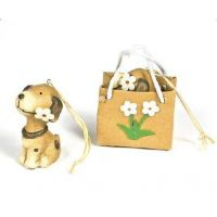 Dog Ornament In Flower Gift Bag - Christmas - Holiday Gifts - Holiday Gifts Mart