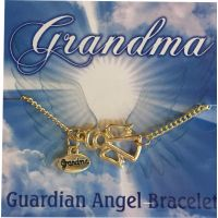 Grandma Gold Angel Charm Bracelet - Grandma Gifts - Holiday Gifts Mart
