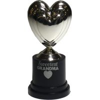 Grandma Silver Heart Trophy - Grandma Gifts - Holiday Gifts Mart