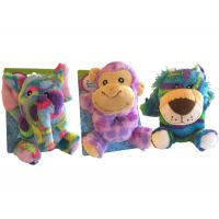 Safari Plush Animal Baby Rattle - Baby Gifts - Holiday Gifts Mart
