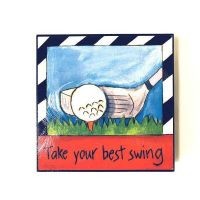 Inspirational Golf Plaque - Gifts For Men - Holiday Gifts Mart