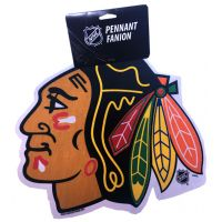 Blackhawks Die Cut Logo Pennant - Sports Team Logo Gifts - Holiday Gifts Mart