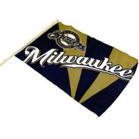 Team Flag on Stick - Brewers - Sports Team Logo Gifts - Holiday Gifts Mart