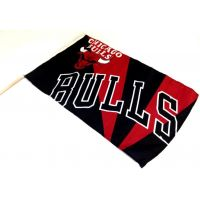 Team Flag on Stick - Bulls - Sports Team Logo Gifts - Holiday Gifts Mart