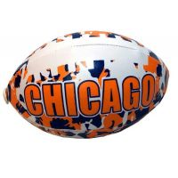 Chicago Camouflage Football - 6 Inch - Sports Team Logo Gifts - Holiday Gifts Mart