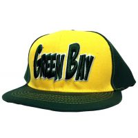 Green Bay City - Flat Brim Hat - Cap - Sports Team Logo Gifts - Holiday Gifts Mart