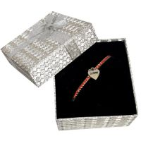 Mom Heart Charm Bracelet Silver Box - Mom Gifts - Holiday Gifts Mart