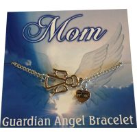 Mom Silver Angel Bracelet - Mom Gifts - Holiday Gifts Mart