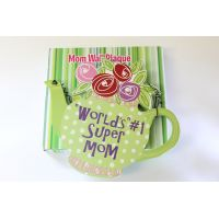 #1 Mom Teapot Wall Plaque - Mom Gifts - Holiday Gifts Mart