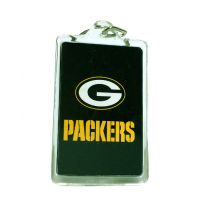 Green Bay Packers Acrylic Key Chain - Sports Team Logo Gifts - Holiday Gifts Mart