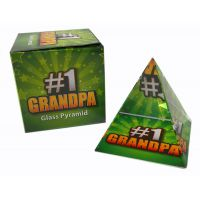 #1 Grandpa Glass Pyramid - Grandpa Gifts - Holiday Gifts Mart