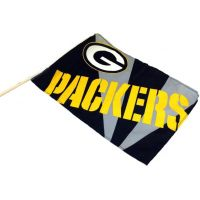 Team Flag on Stick - Packers - Sports Team Logo Gifts - Holiday Gifts Mart
