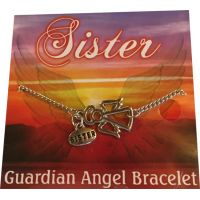Sister Silver Angel Bracelet - Sister Gifts - Holiday Gifts Mart