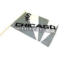 Team Flag on Stick - White Sox - Sports Team Logo Gifts - Holiday Gifts Mart