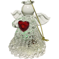 Glass Light Up Angel Ornament - Christmas Tree