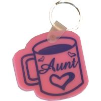 Aunt Coffee Cup Key Chain - Aunt Gifts - Holiday Gifts Mart